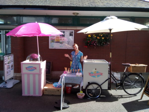 Candy floss machine for evening Christmas events in shropshire