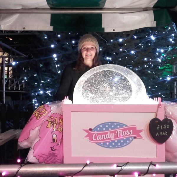 candy floss machine hire in shropshire and cheshire for evening events